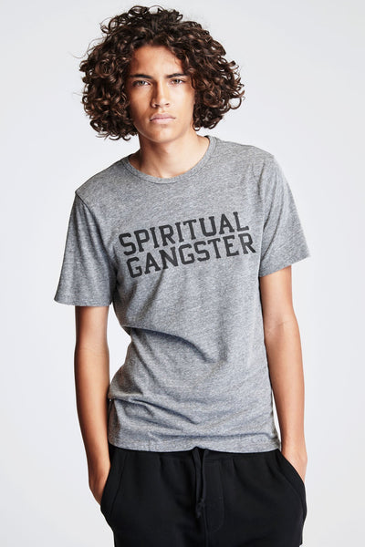 SG VARSITY TEE HEATHER GREY - Spiritual Gangster