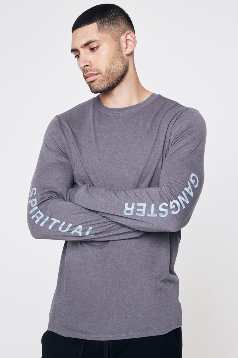 Oblique Long Sleeve Performance Tee