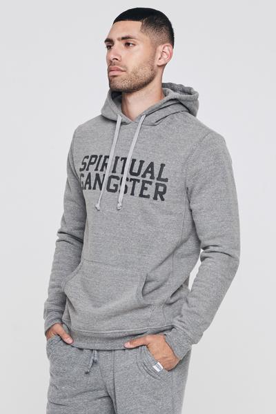 SG VARSITY HEAVYWEIGHT PULLOVER HOODIE HTR GREY - Spiritual Gangster