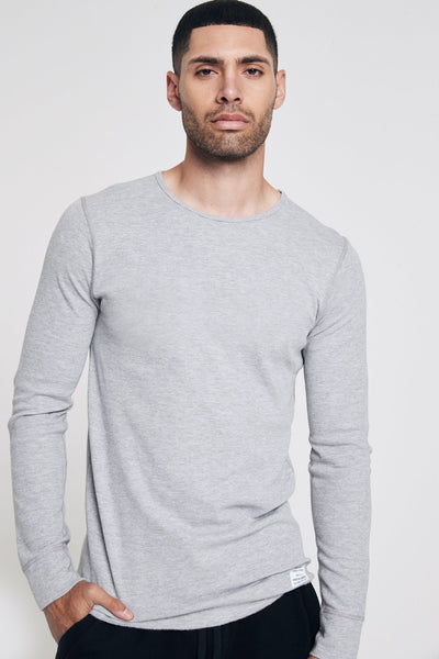 MENS ESSENTIAL THERMAL HEATHER GREY - Spiritual Gangster