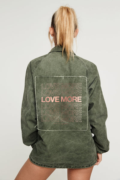 LOVE MORE COACHES JACKET - Spiritual Gangster