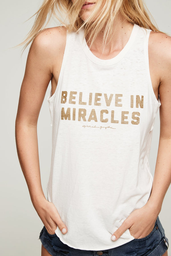 BELIEVE IN MIRACLES STUDIO TANK - Spiritual Gangster