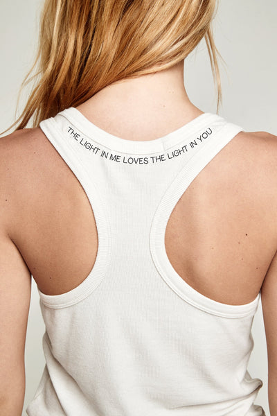 THE LIGHT IN YOU RIB LOVE NOTE TANK - Spiritual Gangster