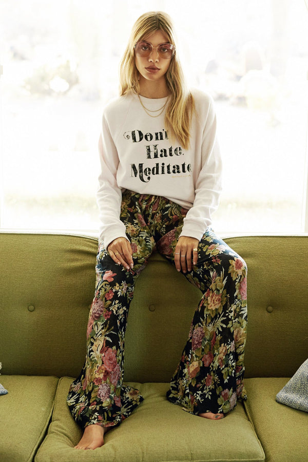 DON'T HATE MEDITATE CREW SWEATSHIRT - Spiritual Gangster