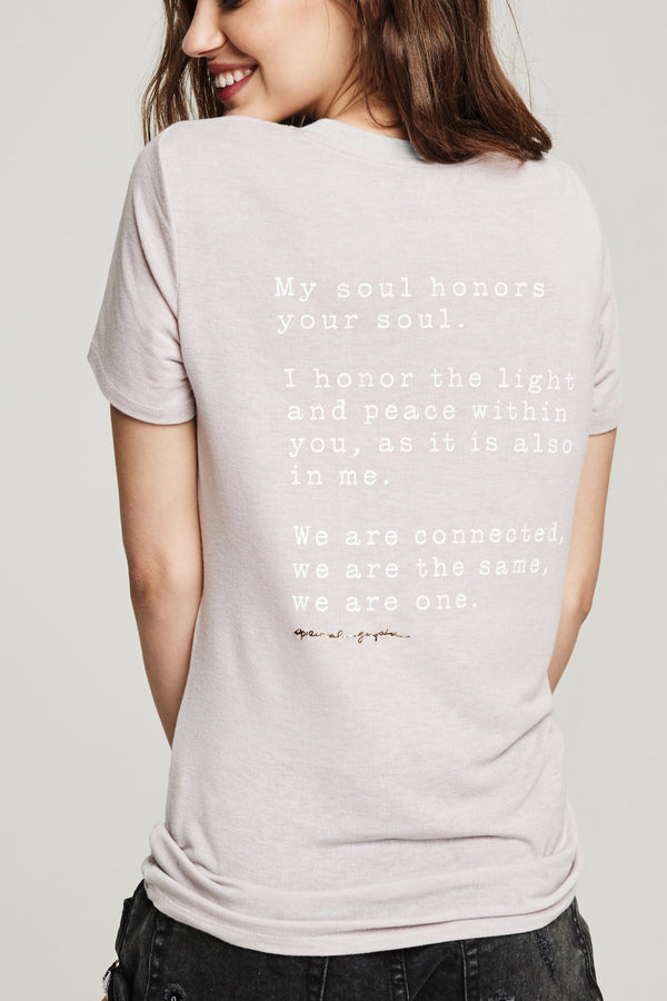 WE ARE ONE ZEN TEE BLUSH - Spiritual Gangster