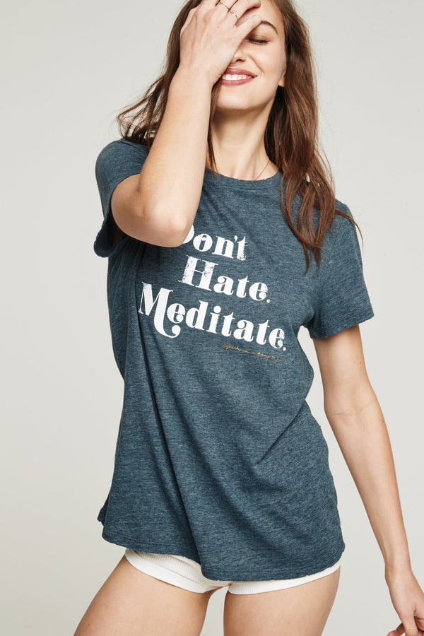 DON'T HATE, MEDITATE REC TEE - Spiritual Gangster