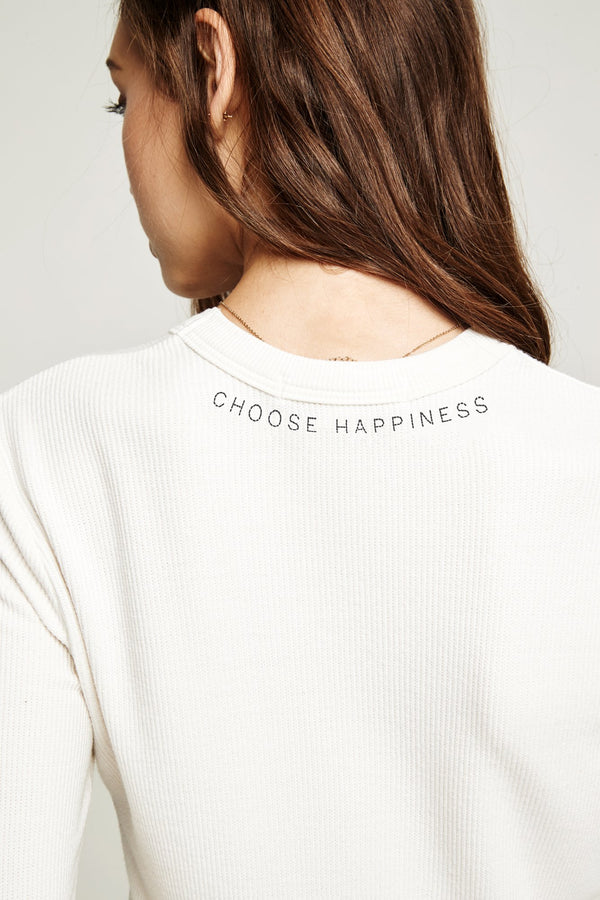 CHOOSE HAPPINESS LONG SLEEVE THERMAL - Spiritual Gangster