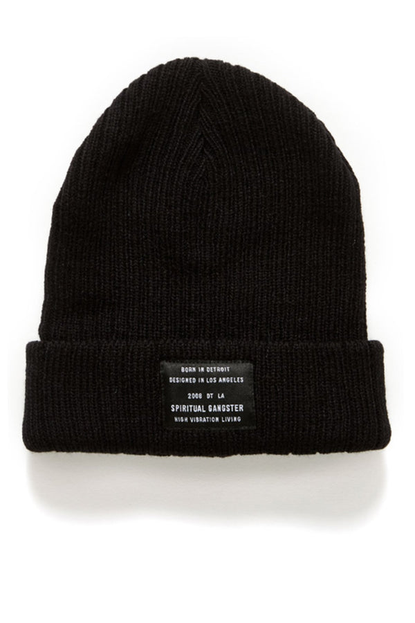CONFIRM STYLE:  BEANIE VINTAGE BLACK - Spiritual Gangster