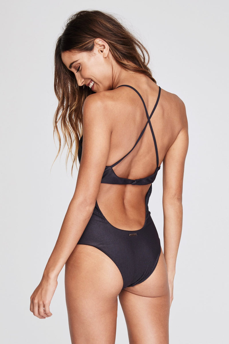 SHORE ONE PIECE RIBBED SWIMSUIT