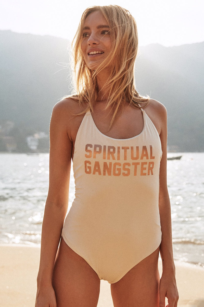 SPIRITUAL GANGSTER RETREAT ONE PIECE SWIMSUIT