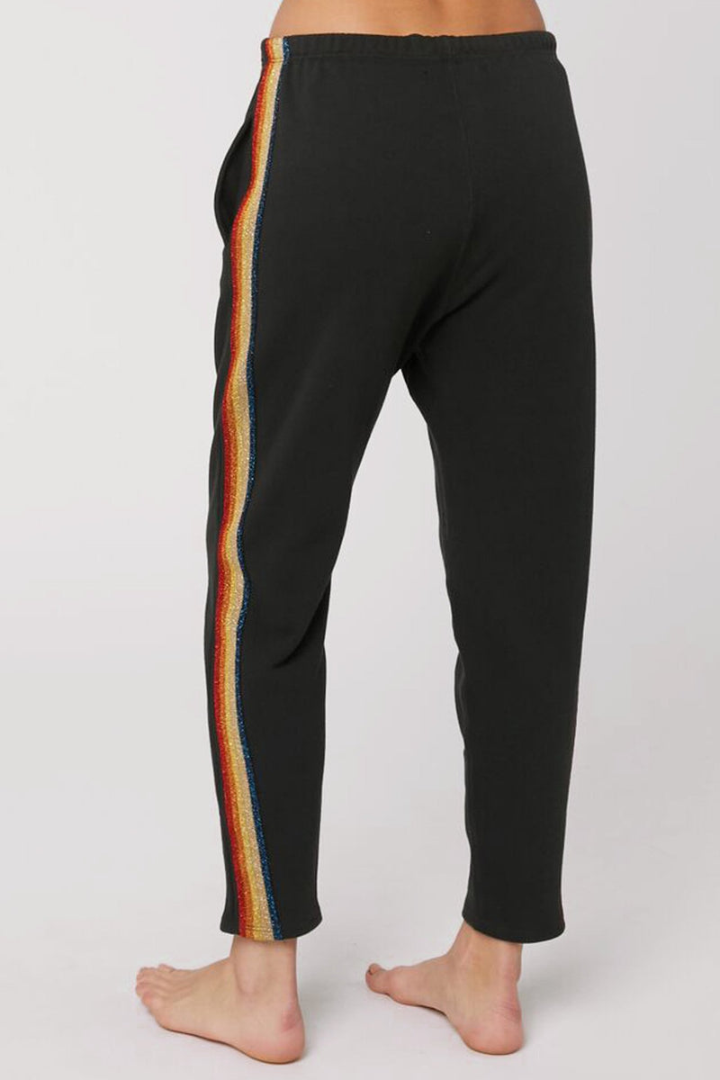 RAINBOW STRIPE HAREM SWEATPANT