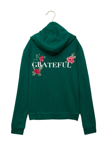 GRATEFUL GIRLS PULLOVER HOODIE EVER GREEN - Spiritual Gangster