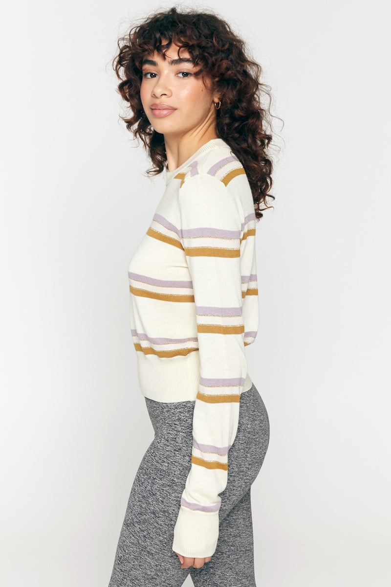 Nikki Stripe Crop Sweater