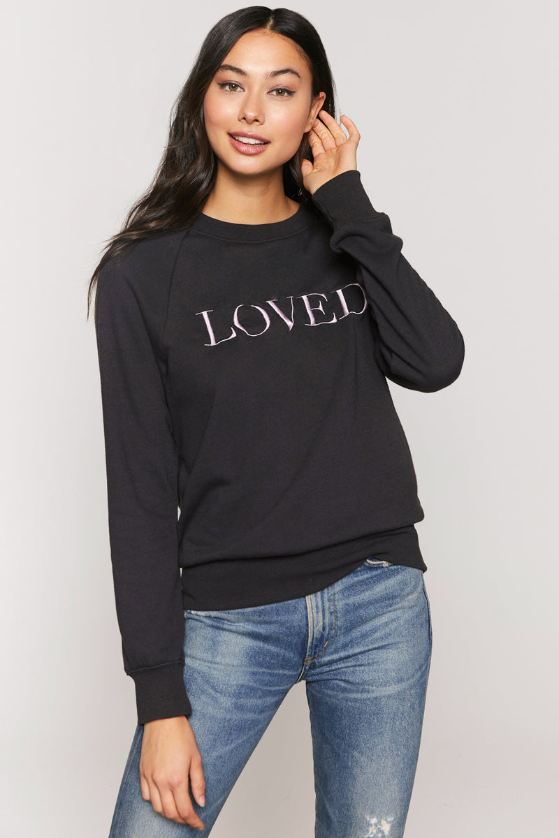 Loved Old School Embroidered Sweatshirt