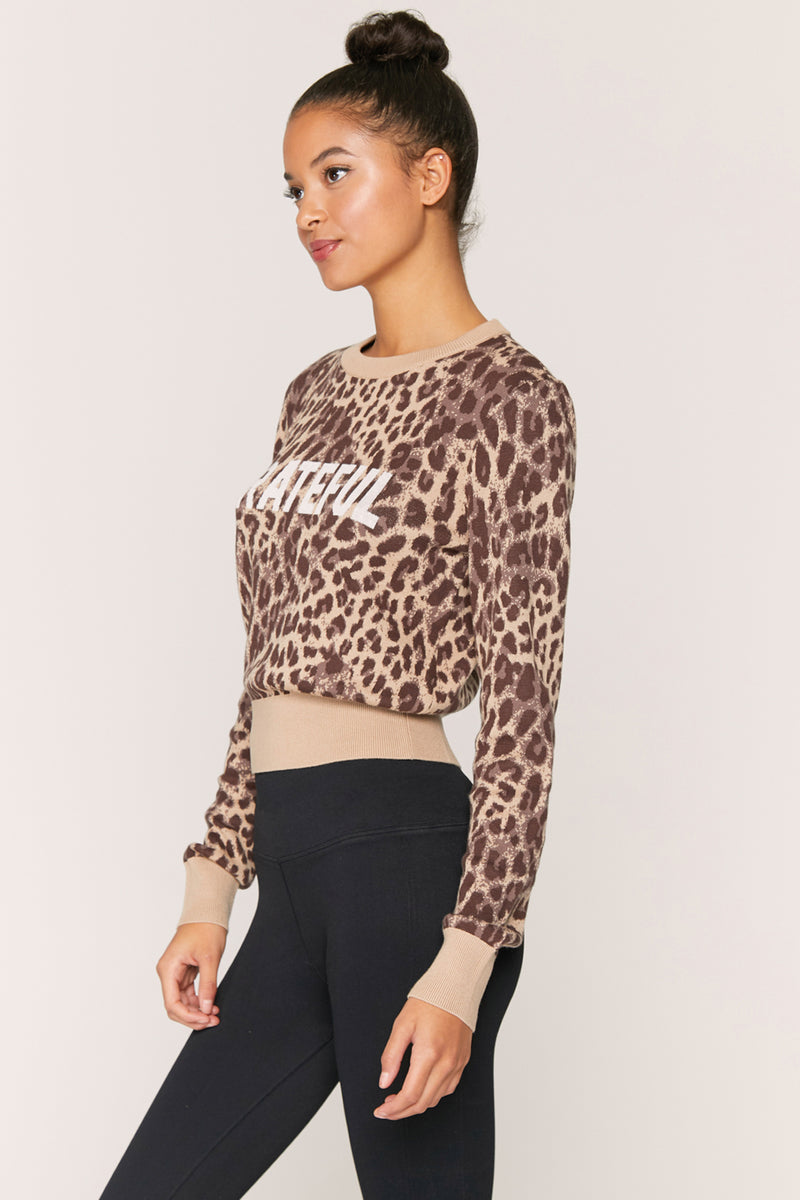 GRATEFUL CHEETAH KNIT SWEATER