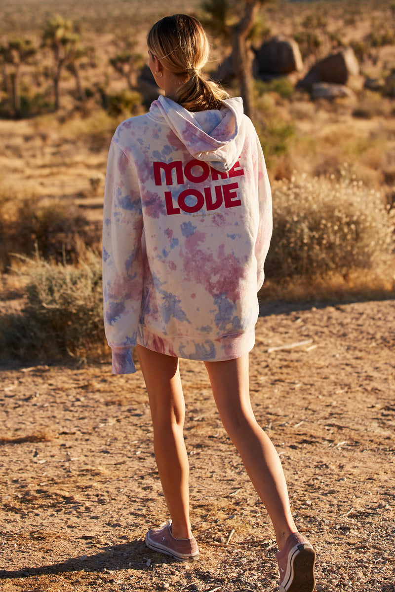 More Love Fleece Hoodie Dress