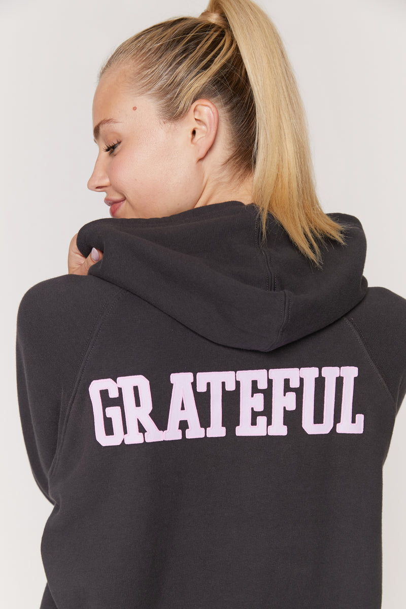Grateful Applique Pullover Hoodie