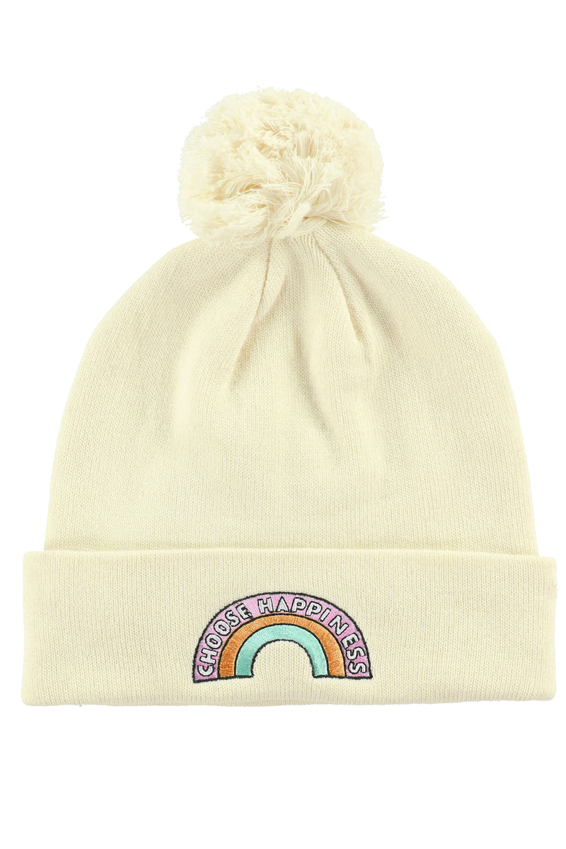 CHOOSE HAPPINESS POM BEANIE