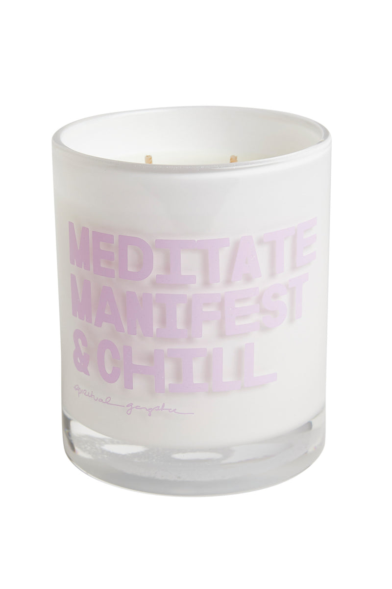 Meditate Manifest Chill Candle