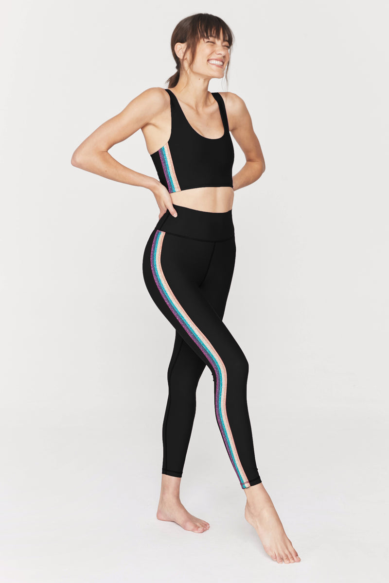 SPARKLE STRIPE HIGH WAIST 7/8 SCULPT LEGGING
