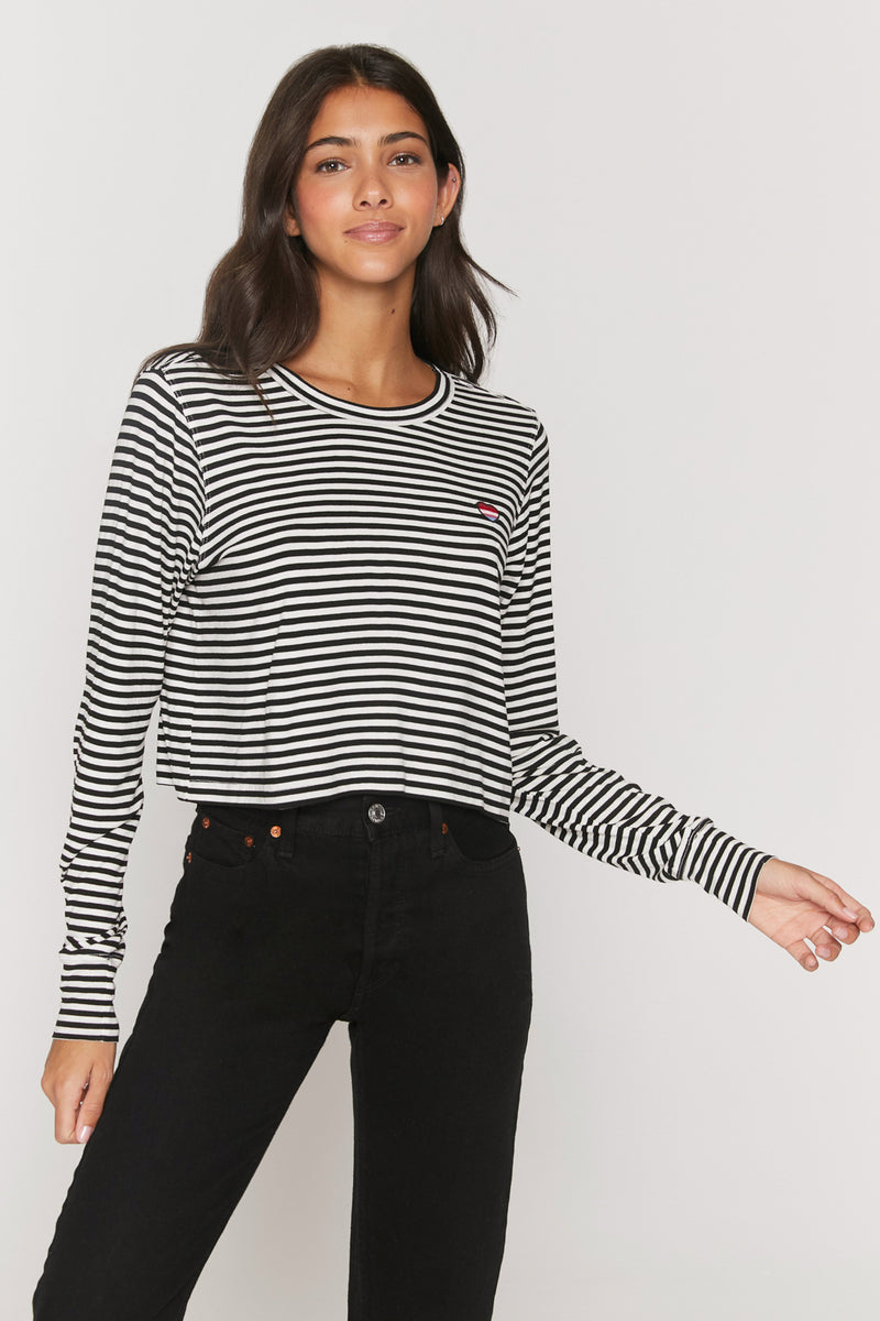 Mini Stripe Fiona Long Sleeve Tee
