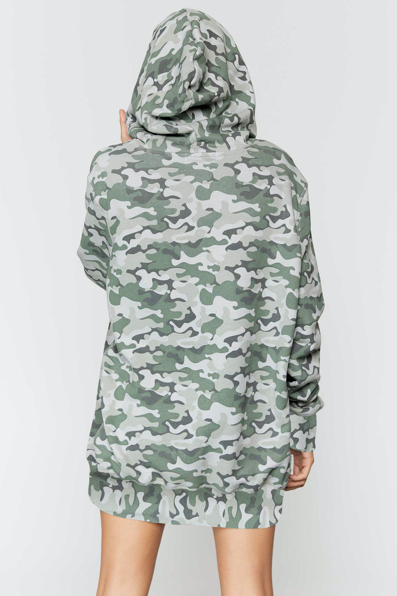 Camo Pullover Hoodie Dress