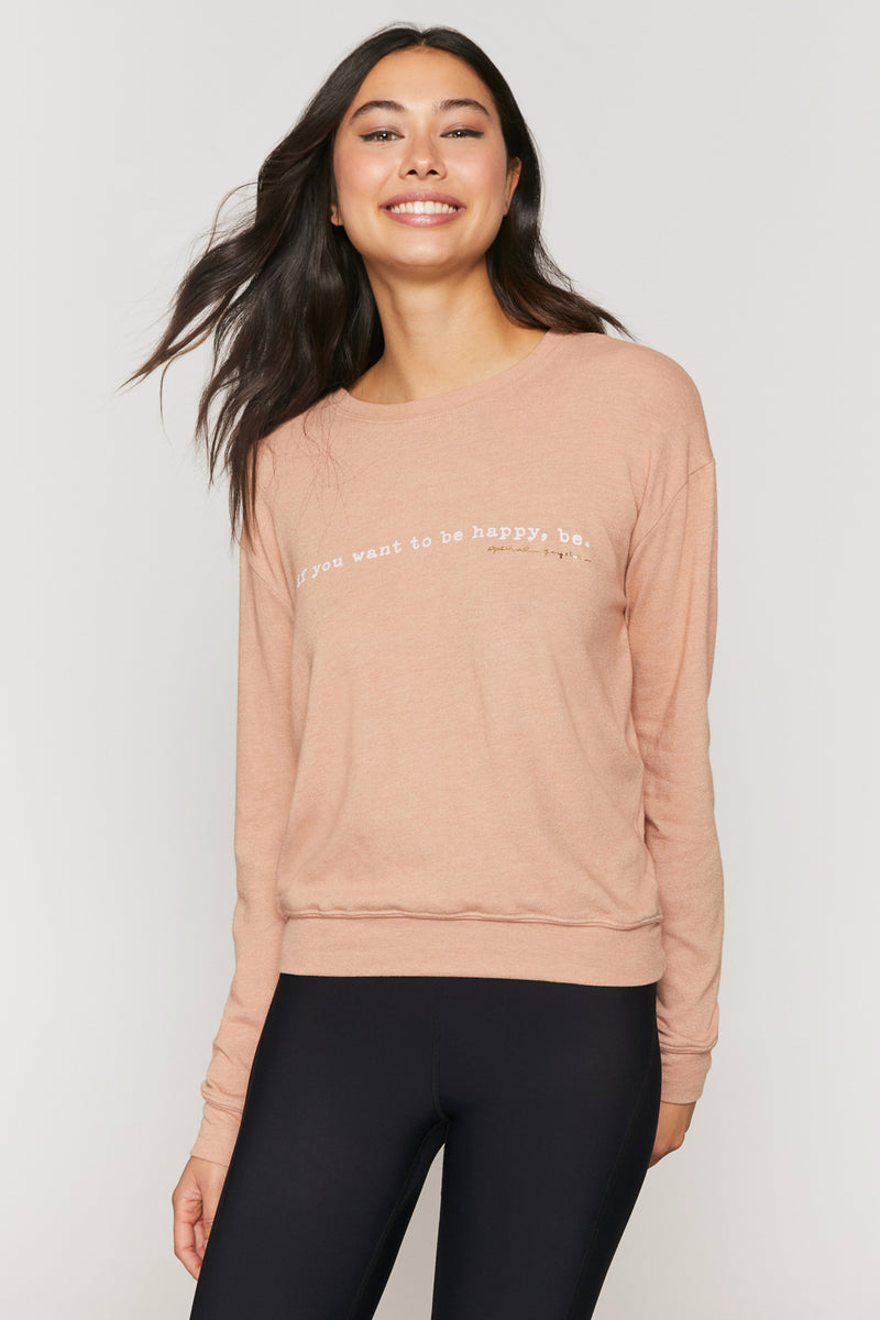 Be Happy Savasana Pullover