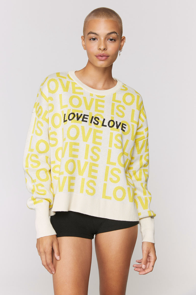 Love Is Love Glow Up Sweater