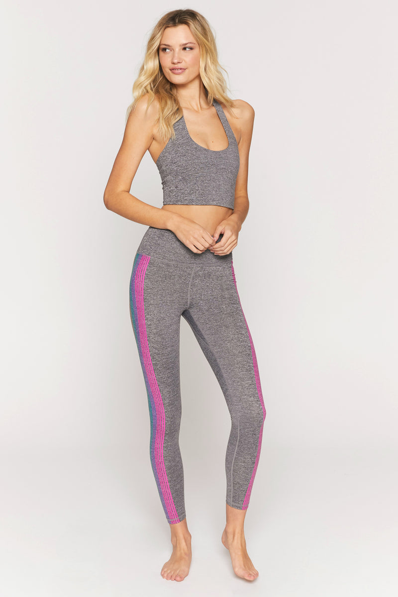 Shimmer Stripe High Waist 7/8 Legging