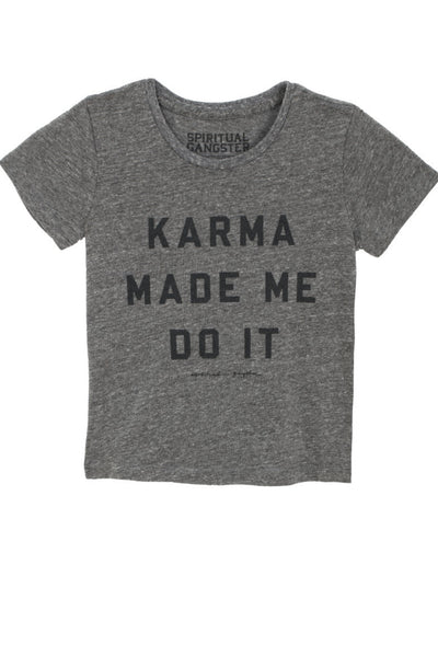 Karma Made Me Tee Heather Grey (2T-6) - Spiritual Gangster