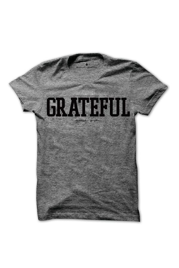 GRATEFUL KIDS TEE HEATHER GREY - Spiritual Gangster