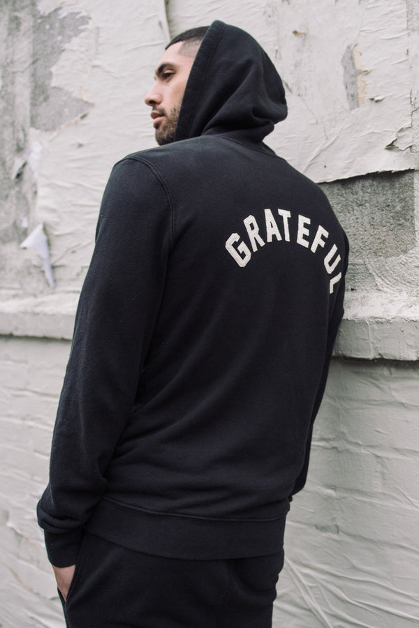 GRATEFUL MENS ZIP HOODIE - Spiritual Gangster