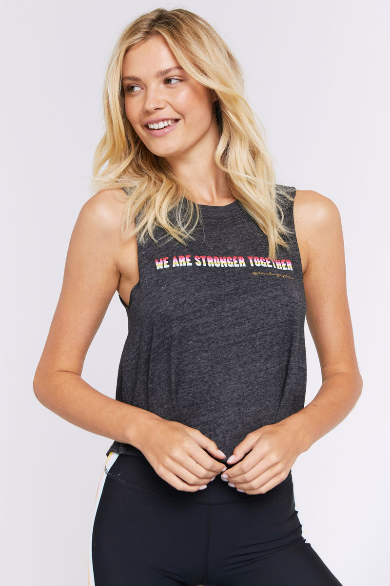 WE ARE STRONGER TOGETHER CROP TANK