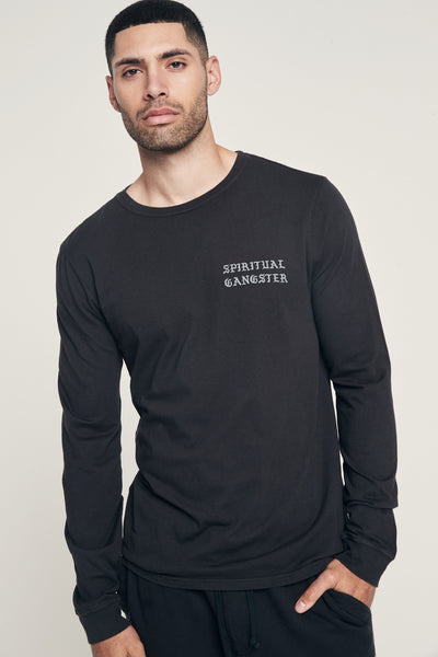 SG OLD ENGLISH MENS LONG SLEEVE TEE - Spiritual Gangster