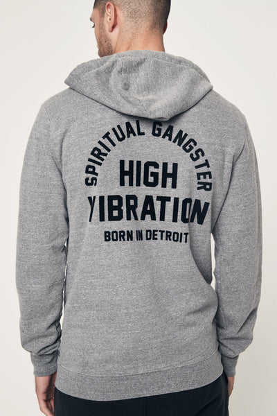 BORN IN DETROIT ZIP HOODIE - Spiritual Gangster