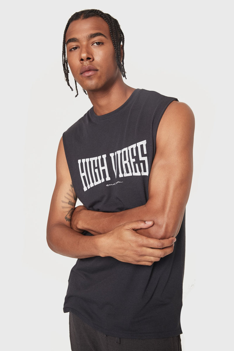 HIGH VIBES MUSCLE TANK