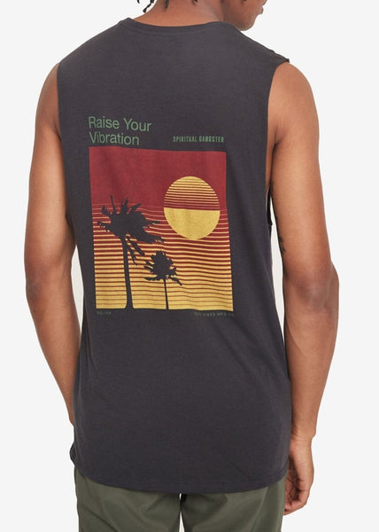 VIBRATIONS MUSCLE TANK - Spiritual Gangster