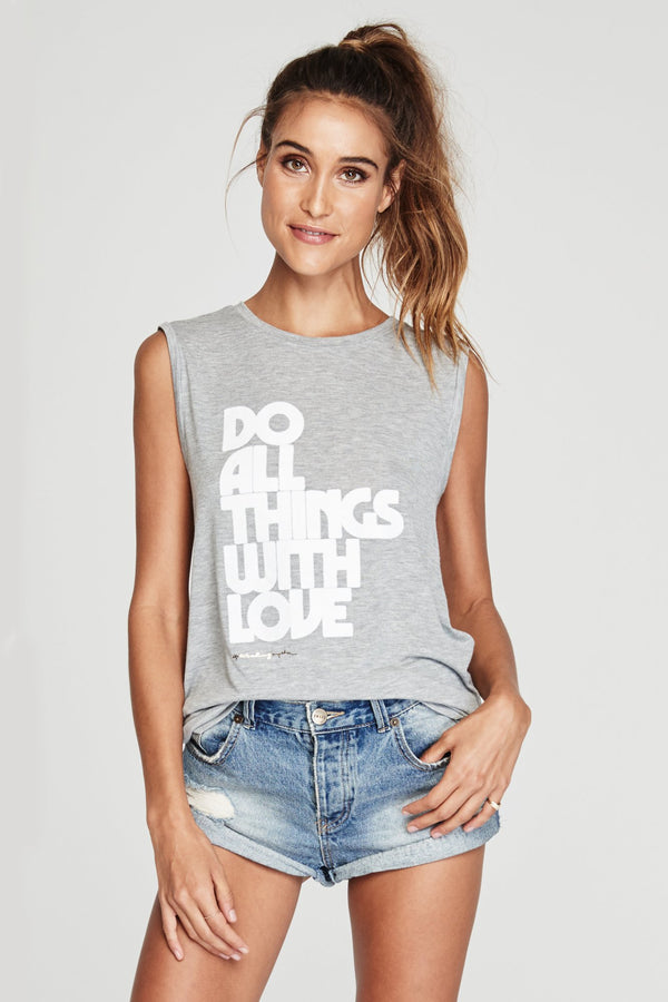 DO ALL WITH THINGS WITH LOVE CHAKRA TANK - Spiritual Gangster