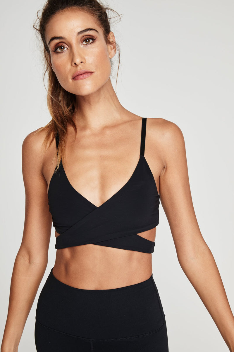 Wrap Bra Black