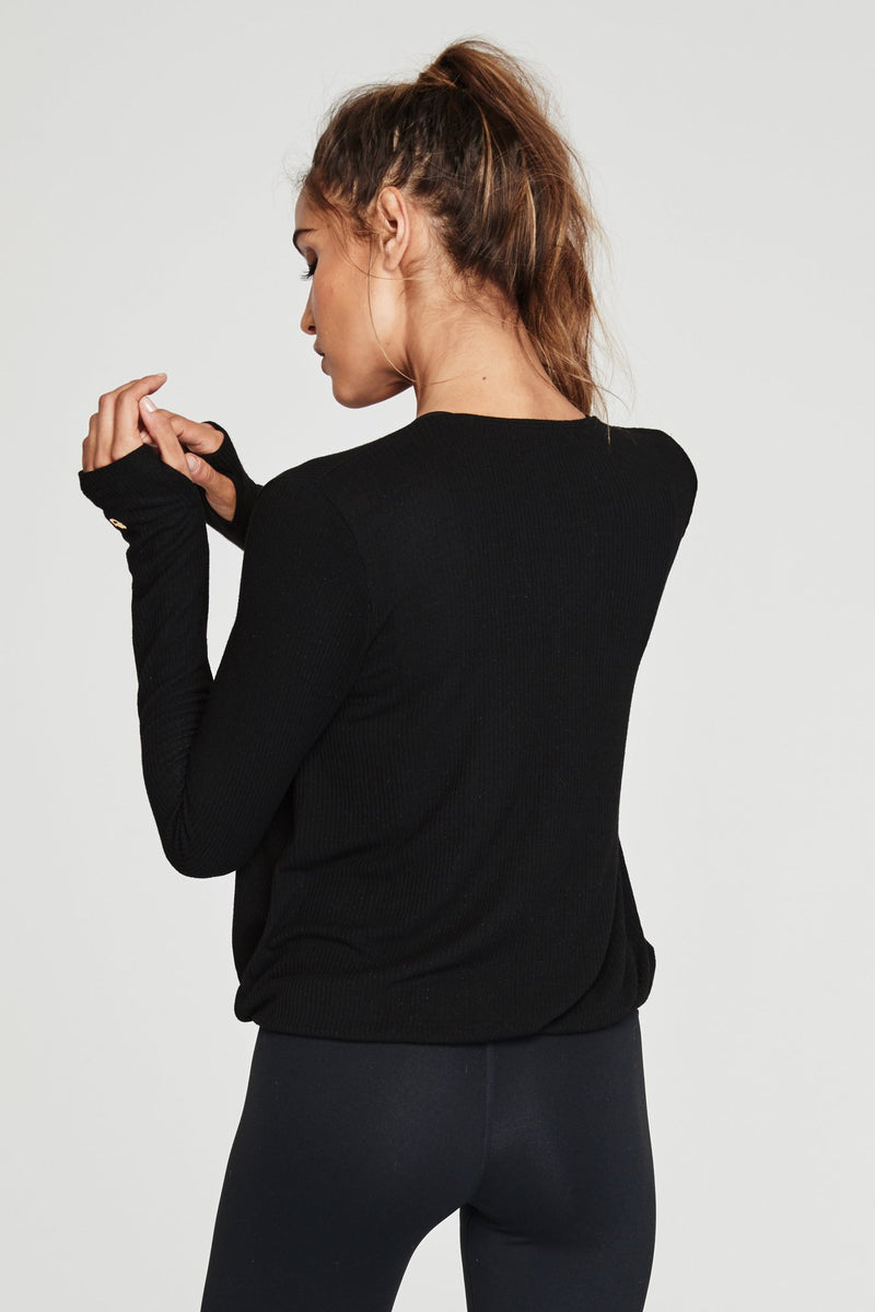 Ballet Rib Cross Front Top