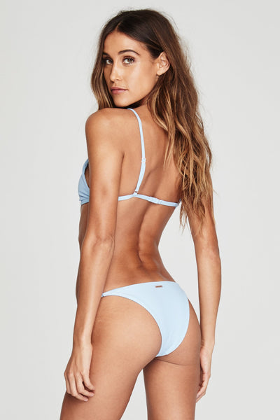 PARADISE COVE RIBBED BIKINI TOP BLUE SKIES - Spiritual Gangster