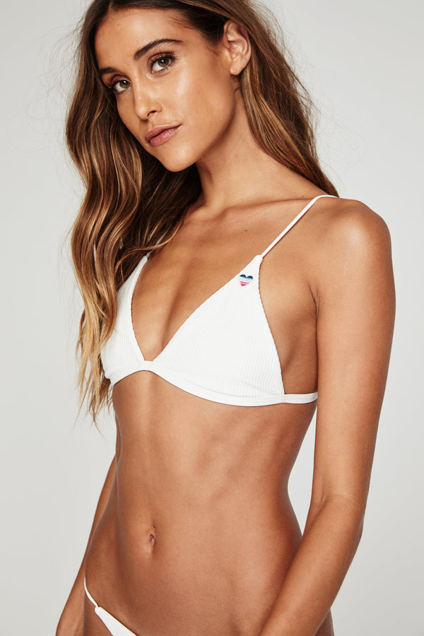 PARADISE COVE RIBBED BIKINI TOP
