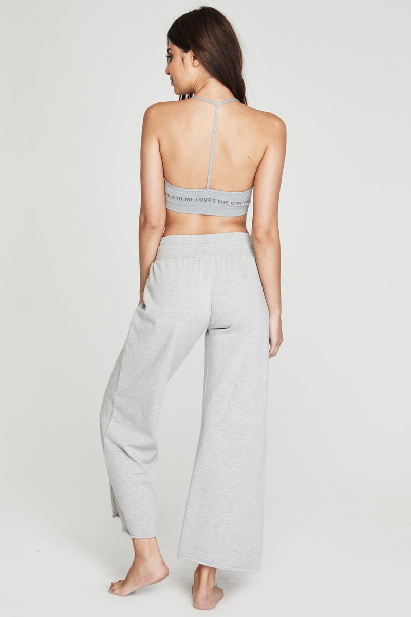 WIDE LEG LIGHTWEIGHT SWEATPANT HEATHER GREY