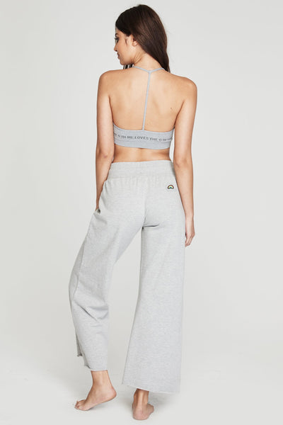 RAINBOW PATCH WIDE LEG PANT HEATHER GREY - Spiritual Gangster