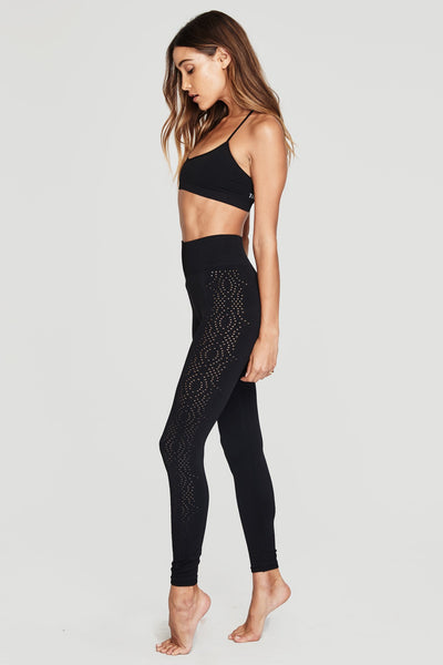 SEAMLESS OPEN MESH LEGGING BLACK - Spiritual Gangster