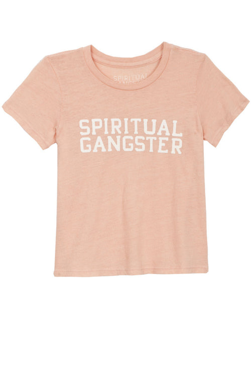 SG Varsity Tee Coral (2T-6) - Spiritual Gangster