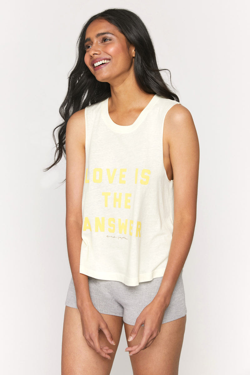 Love Is the Answer Crop Tank