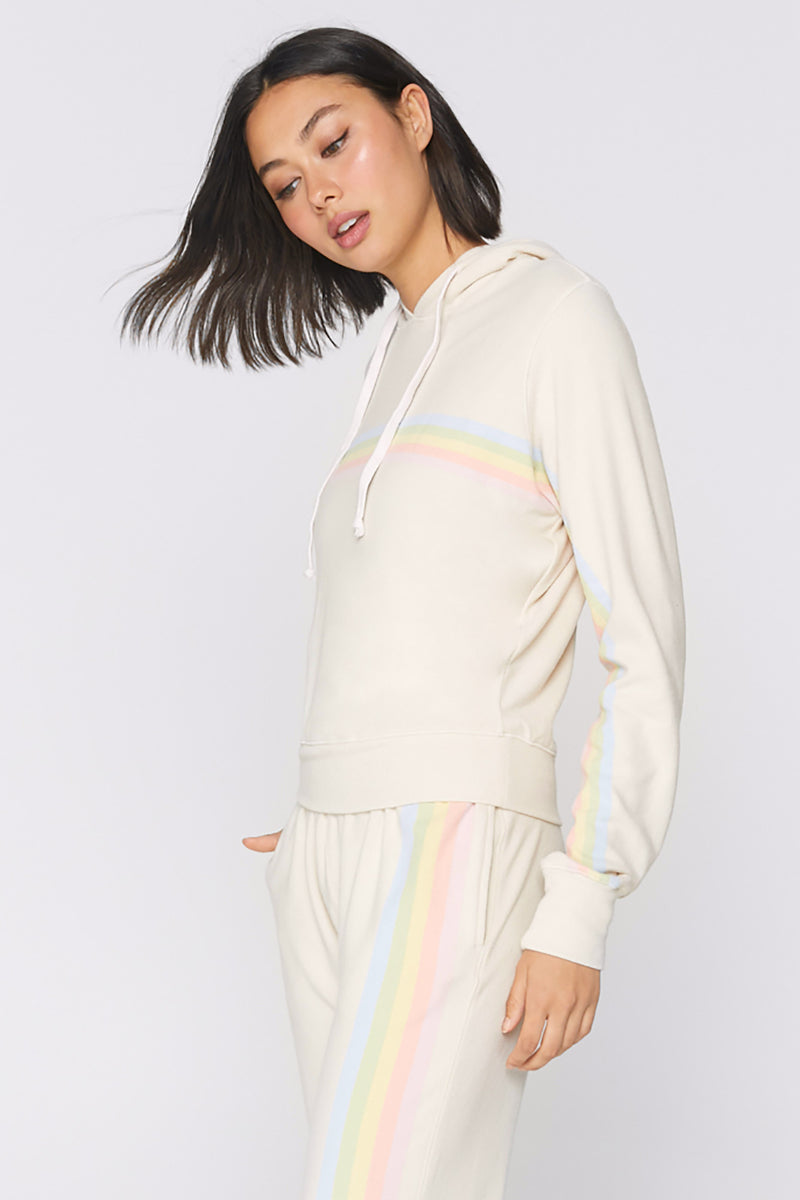 Striped Hacci Hoodie