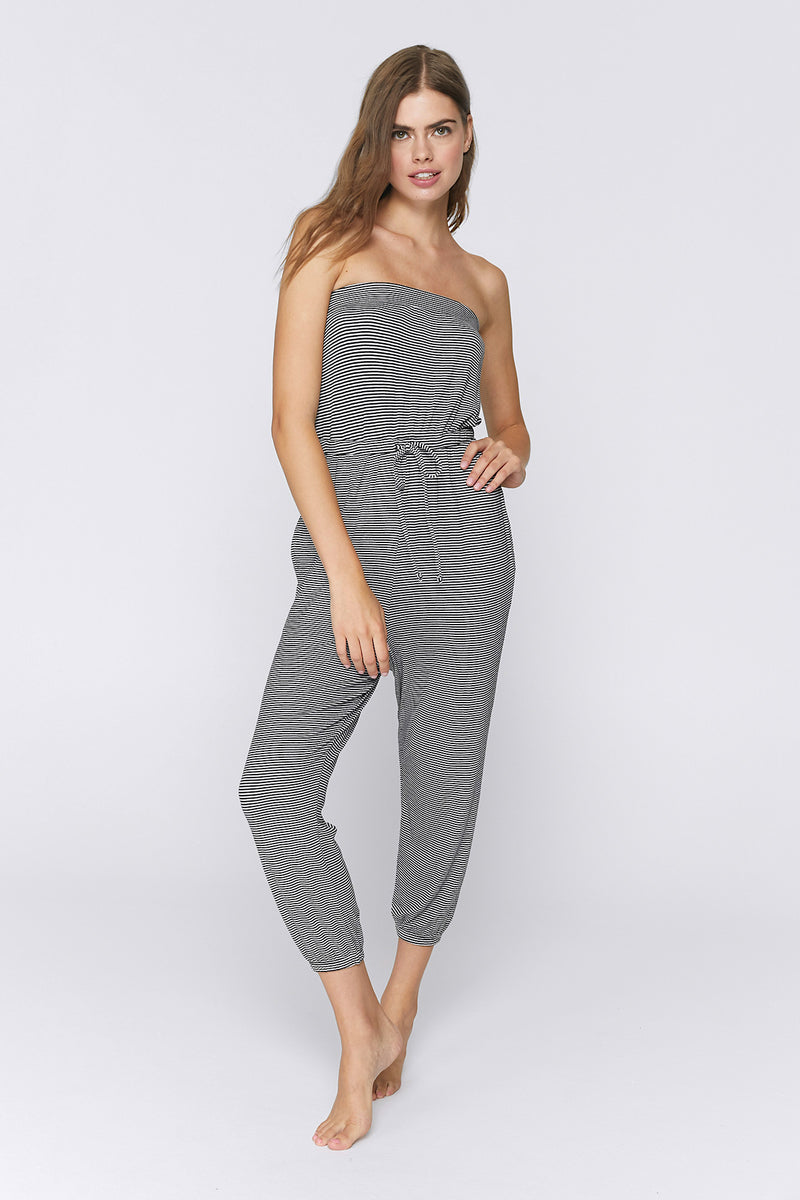 Ribbed Cinched Jumpsuit