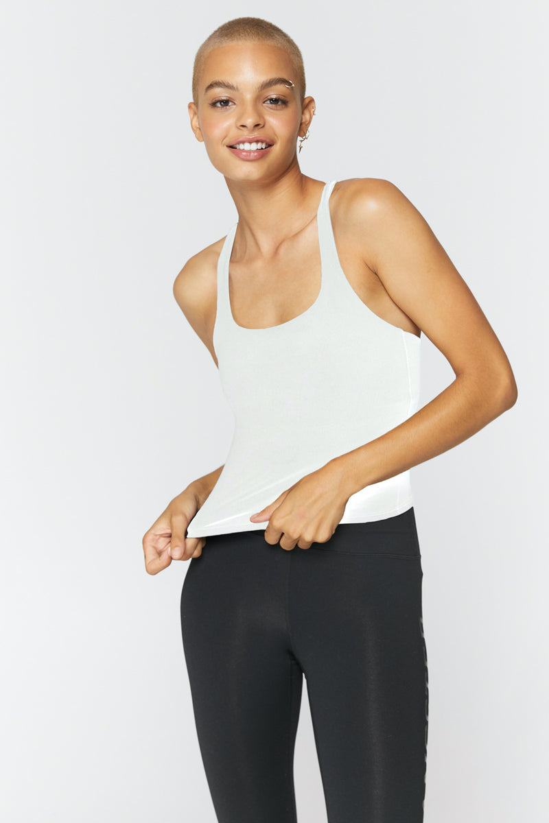 Ribbed Racerback Active Tank